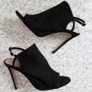 Aquazzura Gaya Peep-toe Slingback Stiletto Sandal